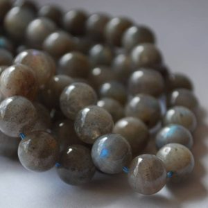 "Shop Labradorite Round Beads! High Quality Grade A Natural Labradorite Semi-precious Gemstone Round Beads – 4mm, 6mm, 8mm, 10mm 12mm sizes – 16"" strand 