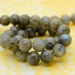 Shop Labradorite Round Beads! Labradorite Round Smooth Gemstone Beads (4mm 6mm 8mm 10mm 12mm) | Natural genuine round Labradorite beads for beading and jewelry making.  #jewelry #beads #beadedjewelry #diyjewelry #jewelrymaking #beadstore #beading #affiliate #ad