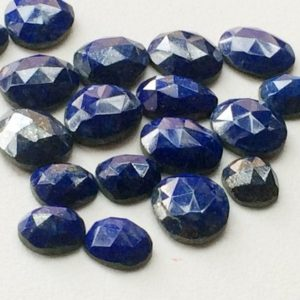 Shop Lapis Lazuli Stones & Crystals! 17-20mm Lapis Lazuli Faceted Cabochons, Lapis Lazuli Flat Back Rose Cut Cabochons, 5 Pcs Blue Lapis Lazuli Faceted Gemstones  For Jewelry | Natural genuine stones & crystals in various shapes & sizes. Buy raw cut, tumbled, or polished gemstones for making jewelry or crystal healing energy vibration raising reiki stones. #crystals #gemstones #crystalhealing #crystalsandgemstones #energyhealing #affiliate #ad