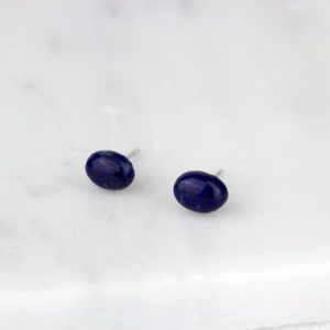 Shop Lapis Lazuli Earrings! Lapis Studs, Dainty Blue Earrings, Small Dainty Earring, Blue Lapis Earrings, Lapis Lazuli Stone, Blue Gold Gemstone | Natural genuine Lapis Lazuli earrings. Buy crystal jewelry, handmade handcrafted artisan jewelry for women.  Unique handmade gift ideas. #jewelry #beadedearrings #beadedjewelry #gift #shopping #handmadejewelry #fashion #style #product #earrings #affiliate #ad