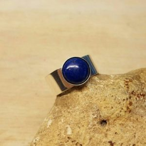 Shop Lapis Lazuli Rings! Men's Lapis ring. 925 sterling silver. Blue Lapis Lazuli ring. Reiki jewelry uk. September birthstone. Adjustable ring. 10mm stone | Natural genuine Lapis Lazuli rings, simple unique handcrafted gemstone rings. #rings #jewelry #shopping #gift #handmade #fashion #style #affiliate #ad
