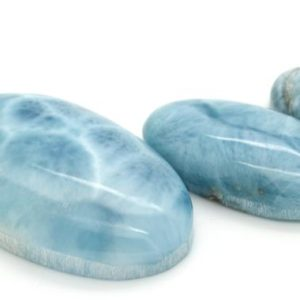 Natural Dominican Larimar Rock Gemstone Oval Marquise Beads for Pendant Grade AAA | Natural genuine other-shape Larimar beads for beading and jewelry making.  #jewelry #beads #beadedjewelry #diyjewelry #jewelrymaking #beadstore #beading #affiliate #ad