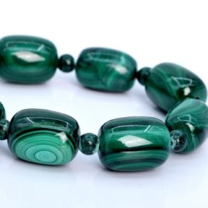 "Shop Malachite Bead Shapes! 20x15MM – 20x13MM Malachite Beads Barrel Drum South Africa AA Genuine Natural Half Strand Beads 7.5"" BULK LOT 1,3,5,10,50 (106034h-1821) 