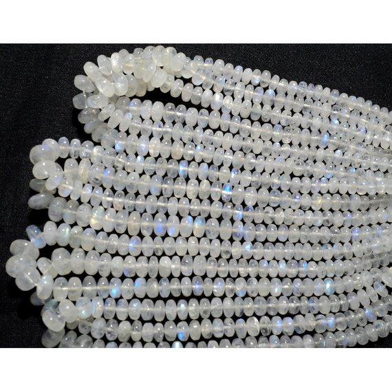 Rainbow Moonstone Beads, 5mm To 6mm Beads, Plain Beads, Rondelle Beads, 7 Inch Half Strand