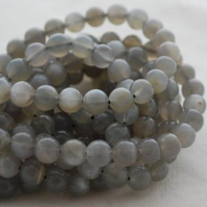 "Shop Moonstone Round Beads! High Quality Grade A Natural Grey Moonstone Semi-precious Gemstone Round Beads – 4mm, 6mm, 8mm, 10mm sizes – 15.5"" strand 