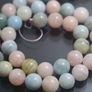 12mm Morganite Stone Beads, natural Smooth And Round Morganite Beads, 15 Inches One Starand | Natural genuine beads Morganite beads for beading and jewelry making.  #jewelry #beads #beadedjewelry #diyjewelry #jewelrymaking #beadstore #beading #affiliate #ad