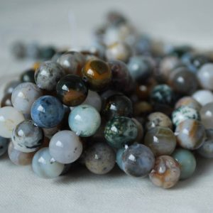 "Shop Ocean Jasper Beads! High Quality Grade A Natural Ocean Jasper Semi-precious Gemstone Round Beads – 4mm, 6mm, 8mm, 10mm sizes – 16"" strand 