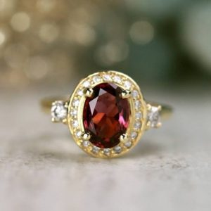 Shop Spinel Rings! ONE-OF-A-KIND: Spinel and Diamond Engagement Cocktail Ring | Prong Setting | Solid 14K Gold | Fine Jewelry | Free Shipping | Natural genuine Spinel rings, simple unique alternative gemstone engagement rings. #rings #jewelry #bridal #wedding #jewelryaccessories #engagementrings #weddingideas #affiliate #ad
