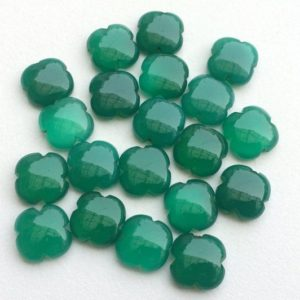 Shop Onyx Stones & Crystals! 5 Pcs Green Onyx Fancy Floral Cabochons, Green Onyx  Clover Shape, Flat Plain Stones, Loose Onyx Floral Gems, 15mm – KS3197 | Natural genuine stones & crystals in various shapes & sizes. Buy raw cut, tumbled, or polished gemstones for making jewelry or crystal healing energy vibration raising reiki stones. #crystals #gemstones #crystalhealing #crystalsandgemstones #energyhealing #affiliate #ad