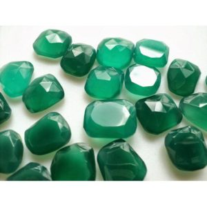 Shop Onyx Cabochons! Green Onyx RoseCut, Green Flat Cabochons, Onyx Rose Cut, Rose Cut Gemstones 11x12mm To 12x15mm Each, 11 Pieces | Natural genuine gemstones & crystals in various shapes & sizes. Buy raw cut, tumbled, or polished for making jewelry or crystal healing energy reiki stones. #crystals #gemstones #crystalhealing #crystalsandgemstones #energyhealing #affiliate