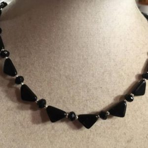 Shop Onyx Necklaces! Black Onyx Necklace – Sterling Silver Jewelry – Gemstone Jewellery – Beaded   Natural genuine Onyx necklaces. Buy crystal jewelry, handmade handcrafted artisan jewelry for women.  Unique handmade gift ideas. #jewelry #beadednecklaces #beadedjewelry #gift #shopping #handmadejewelry #fashion #style #product #necklaces #affiliate #ad