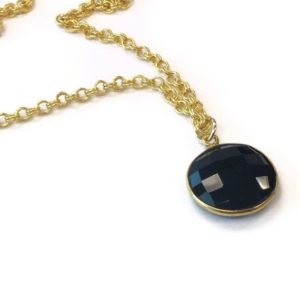 Shop Onyx Pendants! Black Necklace – Black Onyx Pendant – Gold Chain Jewelry – Onyx Gemstone Jewellery – Drop – Charm Layer Stack Fashion Everyday N-311 312 | Natural genuine Onyx pendants. Buy crystal jewelry, handmade handcrafted artisan jewelry for women.  Unique handmade gift ideas. #jewelry #beadedpendants #beadedjewelry #gift #shopping #handmadejewelry #fashion #style #product #pendants #affiliate #ad