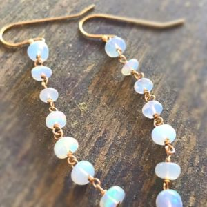 Shop Opal Earrings! Ethiopian Opal Earrings – October Birthstone Jewellery – Gold Jewelry – Gemstone – Iridescent | Natural genuine gemstone jewelry in modern, chic, boho, elegant styles. Buy crystal handmade handcrafted artisan art jewelry & accessories. #jewelry #beaded #beadedjewelry #product #gifts #shopping #style #fashion #product
