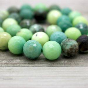 Shop Opal Faceted Beads! Green Moss Opal Faceted Round Ball Sphere Loose Beads Natural Gemstone (4mm 6mm 8mm 10mm 12mm) | Natural genuine faceted Opal beads for beading and jewelry making.  #jewelry #beads #beadedjewelry #diyjewelry #jewelrymaking #beadstore #beading #affiliate #ad