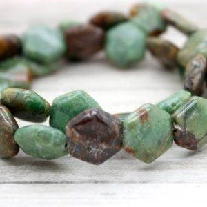 Shop Opal Bead Shapes! Green Opal Flat Hexagonal Gemstone Beads | Natural genuine other-shape Opal beads for beading and jewelry making.  #jewelry #beads #beadedjewelry #diyjewelry #jewelrymaking #beadstore #beading #affiliate
