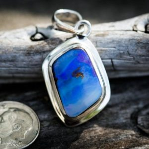 Shop Opal Pendants! Boulder Opal Pendant – Natural Boulder Opal – Boulder Opal Necklace – Natural Boulder Opal pendant – Boulder Opal Sterling Silver Pendant | Natural genuine Opal pendants. Buy crystal jewelry, handmade handcrafted artisan jewelry for women.  Unique handmade gift ideas. #jewelry #beadedpendants #beadedjewelry #gift #shopping #handmadejewelry #fashion #style #product #pendants #affiliate #ad
