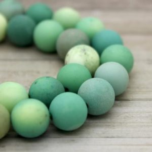 Shop Opal Round Beads! Matte Green Moss Opal Round Gemstone Beads (4mm 6mm 8mm 12mm) | Natural genuine round Opal beads for beading and jewelry making.  #jewelry #beads #beadedjewelry #diyjewelry #jewelrymaking #beadstore #beading #affiliate #ad