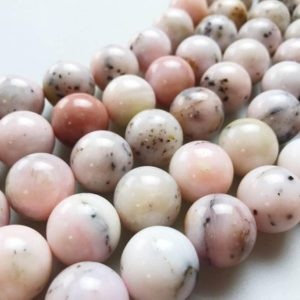 "Shop Opal Round Beads! Natural Pink Opal Smooth Round  Gemstone Loose  Beads Size 18mm/20mm  15.5"" Long Per Strand. 