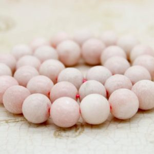 Shop Opal Round Beads! Pink Opal Matte Round Gemstone Beads | Natural genuine gemstone beads for making jewelry in various shapes & sizes. Buy crystal beads raw cut or polished for making handmade homemade handcrafted jewelry. #jewelry #beads #beadedjewelry #product #diy #diyjewelry #shopping #craft #product