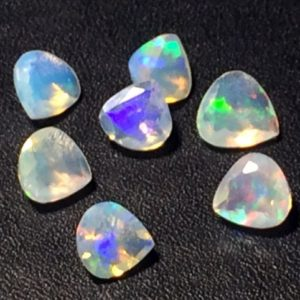 Shop Opal Shapes! 3-6mm Ethiopian Opal Heart Shape Cut Stones, Natural Fire Ethiopian Opal Faceted Heart Cut Stone, Opal For Jewelry  (1Ct To 10Cts Options) | Natural genuine stones & crystals in various shapes & sizes. Buy raw cut, tumbled, or polished gemstones for making jewelry or crystal healing energy vibration raising reiki stones. #crystals #gemstones #crystalhealing #crystalsandgemstones #energyhealing #affiliate #ad