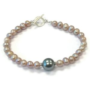 Shop Pearl Bracelets! Pink and Gray Pearl Bracelet – Sterling Silver Jewelry – Grey Wedding Jewellery-  Bridesmaid Gifts – Dainty B-209 | Natural genuine Pearl bracelets. Buy handcrafted artisan wedding jewelry.  Unique handmade bridal jewelry gift ideas. #jewelry #beadedbracelets #gift #crystaljewelry #shopping #handmadejewelry #wedding #bridal #bracelets #affiliate #ad