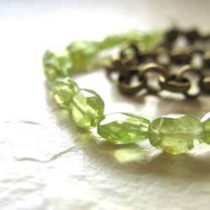 Shop Peridot Bracelets! Peridot Bracelet, Peridot Gemstone Chain Bracelet, handmade green artisan birthstone jewelry, Peridot Jewelry, Birthstone | Natural genuine Peridot bracelets. Buy crystal jewelry, handmade handcrafted artisan jewelry for women.  Unique handmade gift ideas. #jewelry #beadedbracelets #beadedjewelry #gift #shopping #handmadejewelry #fashion #style #product #bracelets #affiliate #ad