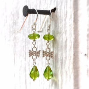 Shop Peridot Earrings! Peridot Earrings – Green Jewelry – Sterling Silver Jewellery – Beaded – Fashion – Chic – August Birthstone | Natural genuine Peridot earrings. Buy crystal jewelry, handmade handcrafted artisan jewelry for women.  Unique handmade gift ideas. #jewelry #beadedearrings #beadedjewelry #gift #shopping #handmadejewelry #fashion #style #product #earrings #affiliate #ad