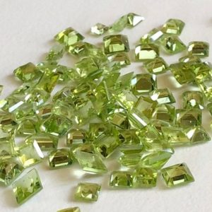 4-6mm Peridot Mix Cut Stones, Peridot Princess And Emerald Cut Stones, 10 Pieces Peridot Pointe Back Stones, Peridot For Jewelry – ANG81 | Natural genuine stones & crystals in various shapes & sizes. Buy raw cut, tumbled, or polished gemstones for making jewelry or crystal healing energy vibration raising reiki stones. #crystals #gemstones #crystalhealing #crystalsandgemstones #energyhealing #affiliate #ad