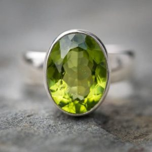 Shop Peridot Rings! Peridot Ring Size 8 Peridot Ring – Gorgeous Peridot Ring 8 – August Birthstone – Peridot Ring August Birthstone – Peridot Jewelry Peridot | Natural genuine Peridot rings, simple unique handcrafted gemstone rings. #rings #jewelry #shopping #gift #handmade #fashion #style #affiliate #ad