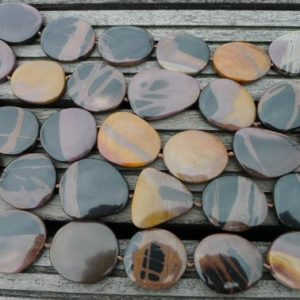 Shop Picture Jasper Chip & Nugget Beads! Mexican Picture Jasper 21-33mm Pebble beads (ETB00223) | Natural genuine chip Picture Jasper beads for beading and jewelry making.  #jewelry #beads #beadedjewelry #diyjewelry #jewelrymaking #beadstore #beading #affiliate #ad