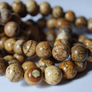 "Shop Picture Jasper Beads! High Quality Grade A Natural Picture Jasper Semi-precious Gemstone Round Beads – 4mm, 6mm, 8mm, 10mm sizes – 15.5"" strand 