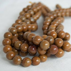 "Shop Picture Jasper Round Beads! High Quality Grade A Natural Wild Horse Picture Jasper (brown) Semi-precious Gemstone Round Beads – 4mm, 6mm, 8mm, 10mm Sizes – 16"" Strand 