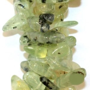 Shop Prehnite Bead Shapes! Genuine Prehnite smooth stick beads in 4x12mm-6x27mm – Gemstone Beads – Full Strand 16"