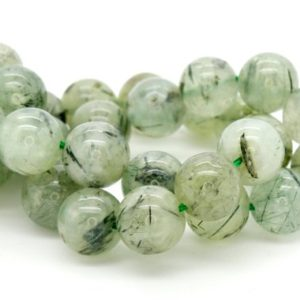 Prehnite Smooth Round Gemstone Beads (4mm 6mm 8mm 10mm) | Natural genuine round Prehnite beads for beading and jewelry making.  #jewelry #beads #beadedjewelry #diyjewelry #jewelrymaking #beadstore #beading #affiliate #ad