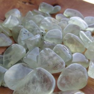 Prehnite Small Tumbled Stone T106a | Natural genuine stones & crystals in various shapes & sizes. Buy raw cut, tumbled, or polished gemstones for making jewelry or crystal healing energy vibration raising reiki stones. #crystals #gemstones #crystalhealing #crystalsandgemstones #energyhealing #affiliate #ad