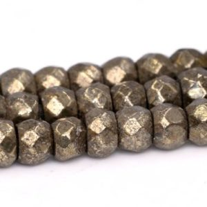 "Shop Pyrite Faceted Beads! 3x2MM Copper Pyrite Beads Grade AAA Natural Gemstone Full Strand Faceted rondelle Loose Beads 15.5"" BULK LOT 1,3,5,10 and 50 (102318-500) 