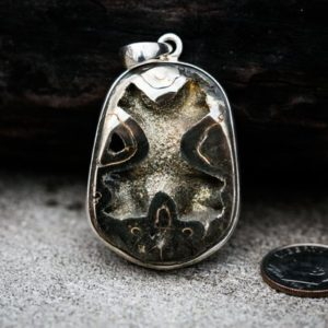 Shop Pyrite Jewelry! Pyritized Ammonite Pendant – Natural Pyrite Ammonite – Ammonite Pyrite necklace – Ammonite Jewelry – Millions of Years old Fossil Pendant | Natural genuine Pyrite jewelry. Buy crystal jewelry, handmade handcrafted artisan jewelry for women.  Unique handmade gift ideas. #jewelry #beadedjewelry #beadedjewelry #gift #shopping #handmadejewelry #fashion #style #product #jewelry #affiliate #ad