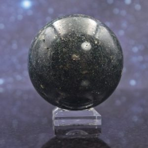 Shop Pyrite Shapes! Polished Chrome Green Fuchsite Quartz Sphere from Madagscar | Pyrite Inclusions | Unusual Mineral Ball | 48mm | 155.5 grams | Natural genuine gemstones & crystals in various shapes & sizes. Buy raw cut, tumbled, or polished for making jewelry or crystal healing energy reiki stones. #crystals #gemstones #crystalhealing #crystalsandgemstones #energyhealing #affiliate