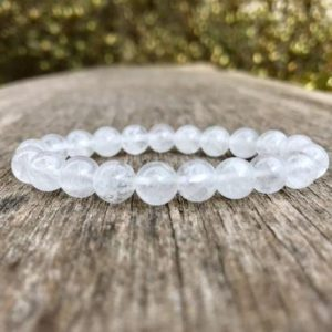 Shop Quartz Crystal Bracelets! Milk Quartz Bracelet Handmade Semiopaque 8mm Crystal Quartz Gemstone Bracelet Milky Quartz Bracelet White Cloudy Quartz Gift Bracelet | Natural genuine Quartz bracelets. Buy crystal jewelry, handmade handcrafted artisan jewelry for women.  Unique handmade gift ideas. #jewelry #beadedbracelets #beadedjewelry #gift #shopping #handmadejewelry #fashion #style #product #bracelets #affiliate #ad
