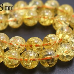 Shop Quartz Crystal Round Beads! 8mm Natural Orange Snow Rock Crystal Quartz Beads,Smooth and Round Stone Beads,15 inches one starand | Natural genuine round Quartz beads for beading and jewelry making.  #jewelry #beads #beadedjewelry #diyjewelry #jewelrymaking #beadstore #beading #affiliate #ad