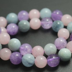 Shop Quartz Crystal Beads! Natural Dream Purple Crystal Quartz Round Smooth and Round Beads,8mm/10mm/12mm Quartz Beads,15 inches one starand | Natural genuine beads Quartz beads for beading and jewelry making.  #jewelry #beads #beadedjewelry #diyjewelry #jewelrymaking #beadstore #beading #affiliate #ad