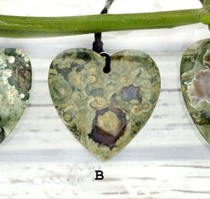 Shop Rainforest Jasper Beads! Rainforest Rhyolite Heart Shape Pendants (etp00280) | Natural genuine other-shape Rainforest Jasper beads for beading and jewelry making.  #jewelry #beads #beadedjewelry #diyjewelry #jewelrymaking #beadstore #beading #affiliate #ad