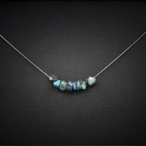Raw Chrysocolla Necklace, calming necklace, anxiety necklace, Mindfulness Gift | Natural genuine Chrysocolla necklaces. Buy crystal jewelry, handmade handcrafted artisan jewelry for women.  Unique handmade gift ideas. #jewelry #beadednecklaces #beadedjewelry #gift #shopping #handmadejewelry #fashion #style #product #necklaces #affiliate #ad