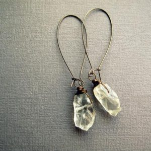 Raw Crystal Earrings – Green Amethyst Earrings – Boho Crystal Earrings – Crystal Dangle Earrings – Green Amethyst Jewelry – Boho Earrings | Natural genuine Gemstone earrings. Buy crystal jewelry, handmade handcrafted artisan jewelry for women.  Unique handmade gift ideas. #jewelry #beadedearrings #beadedjewelry #gift #shopping #handmadejewelry #fashion #style #product #earrings #affiliate #ad