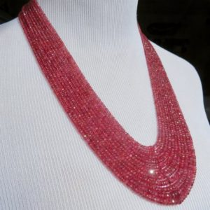 Red Spinel Necklace, Multi Strand Gemstone Necklace, Waterfall Gemstonenecklace | Natural genuine Spinel necklaces. Buy crystal jewelry, handmade handcrafted artisan jewelry for women.  Unique handmade gift ideas. #jewelry #beadednecklaces #beadedjewelry #gift #shopping #handmadejewelry #fashion #style #product #necklaces #affiliate #ad