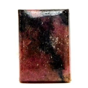 Rhodonite Cabochon Stone (25mm x 18mm x 8mm) 38cts – Rectangle Cabochon | Natural genuine stones & crystals in various shapes & sizes. Buy raw cut, tumbled, or polished gemstones for making jewelry or crystal healing energy vibration raising reiki stones. #crystals #gemstones #crystalhealing #crystalsandgemstones #energyhealing #affiliate #ad