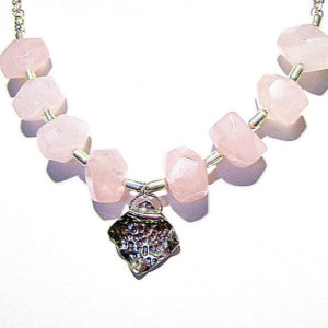 Shop Rose Quartz Pendants! Pink Necklace – Rose Quartz Gemstone Jewellery – Sterling Silver Jewelry – 925 – Chain – Pendant – Handmade – Spring – Fashion – Nugget N-34 | Natural genuine Rose Quartz pendants. Buy crystal jewelry, handmade handcrafted artisan jewelry for women.  Unique handmade gift ideas. #jewelry #beadedpendants #beadedjewelry #gift #shopping #handmadejewelry #fashion #style #product #pendants #affiliate #ad