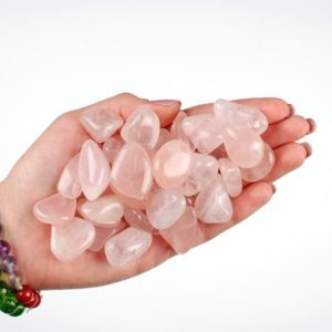 Shop Tumbled Rose Quartz Crystals & Pocket Stones! Rose Quartz Tumbled Stone, Pink Quartz Tumbled Stones, Healing Girasol Crystals, Healing Quartz Stones, Ladiescrystals, Rose Quartz Healing | Natural genuine stones & crystals in various shapes & sizes. Buy raw cut, tumbled, or polished gemstones for making jewelry or crystal healing energy vibration raising reiki stones. #crystals #gemstones #crystalhealing #crystalsandgemstones #energyhealing #affiliate #ad