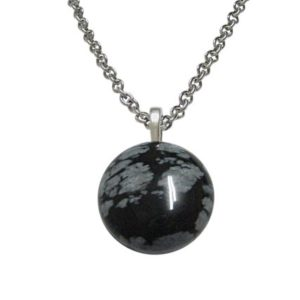 Shop Snowflake Obsidian Necklaces! Round Snowflake Obsidian Necklace | Natural genuine Snowflake Obsidian necklaces. Buy crystal jewelry, handmade handcrafted artisan jewelry for women.  Unique handmade gift ideas. #jewelry #beadednecklaces #beadedjewelry #gift #shopping #handmadejewelry #fashion #style #product #necklaces #affiliate #ad