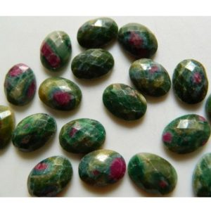 Ruby Zoisite Cabochon Rose Cut Gemstone Rosecut Flat Stones 6 Pieces 13x18mm Approx | Natural genuine stones & crystals in various shapes & sizes. Buy raw cut, tumbled, or polished gemstones for making jewelry or crystal healing energy vibration raising reiki stones. #crystals #gemstones #crystalhealing #crystalsandgemstones #energyhealing #affiliate #ad